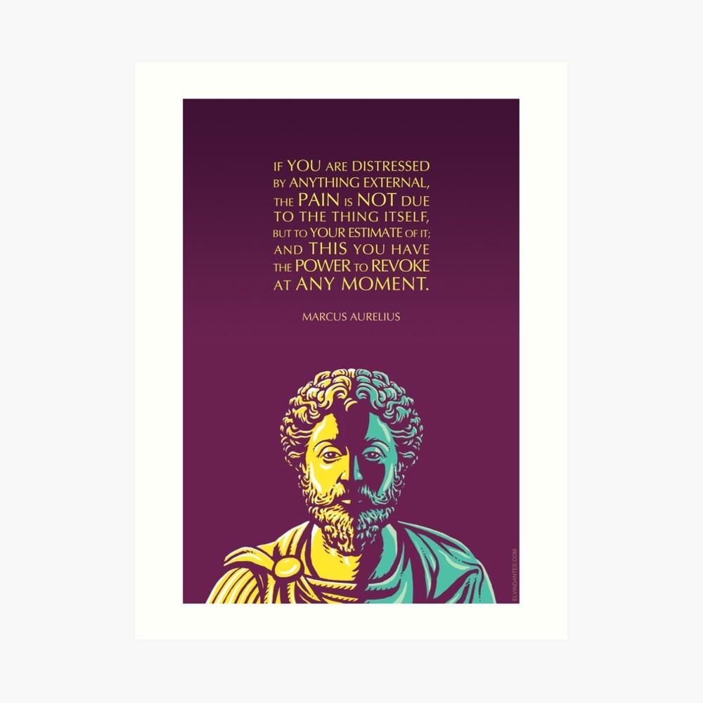 Marcus Aurelius Zitat: Die Macht zu widerrufen Kunstdruck