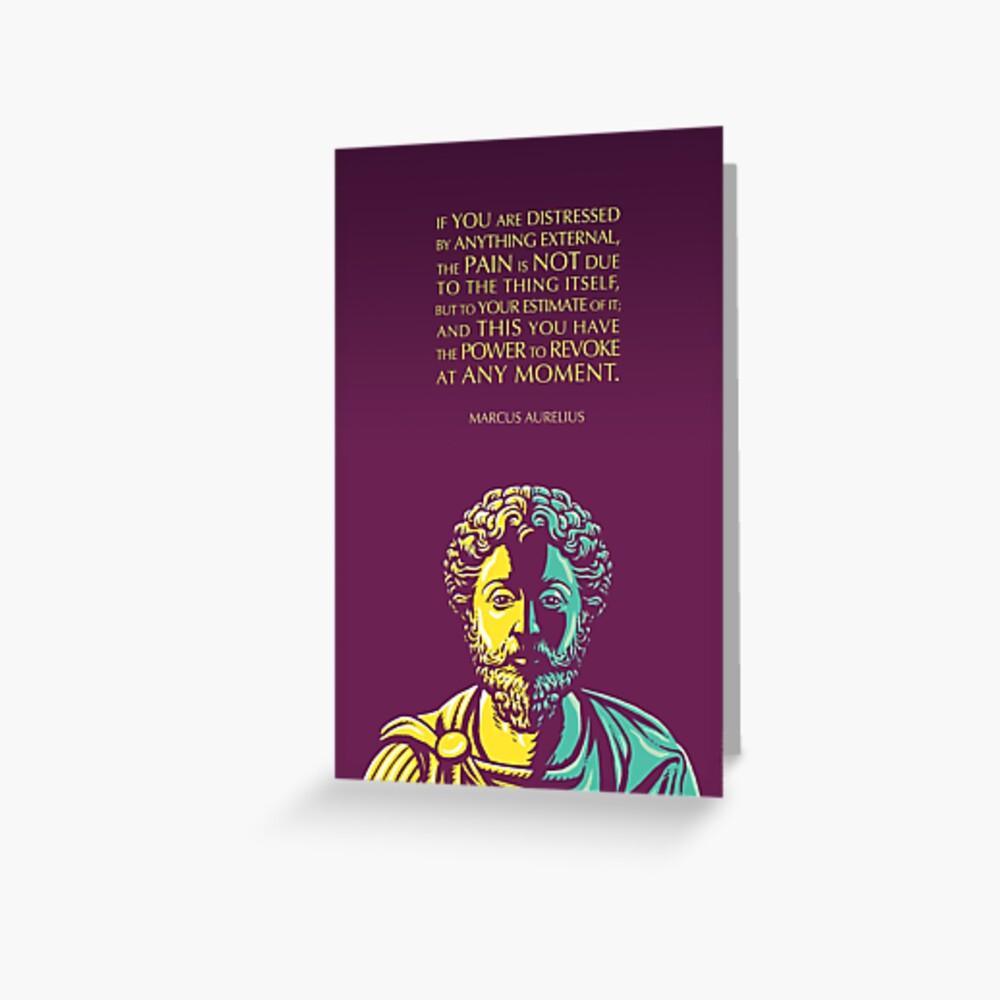 Marcus Aurelius quote: The Power to Revoke Greeting Card
