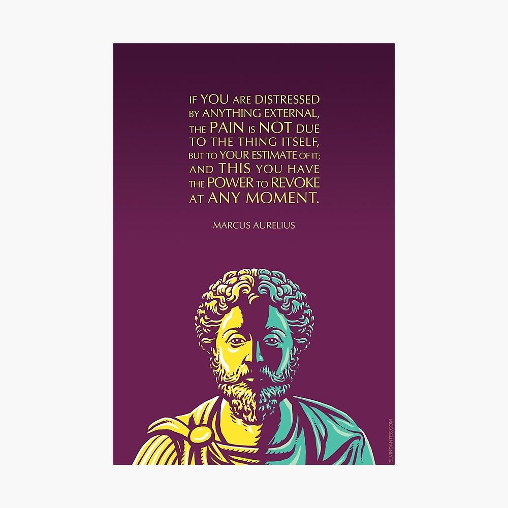 Marcus Aurelius quote: The Power to Revoke Photographic Print