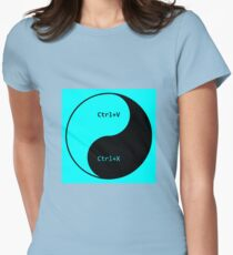 Cut Paste Womens Fitted T-Shirt