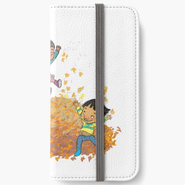 jumping leaves  iPhone Wallet