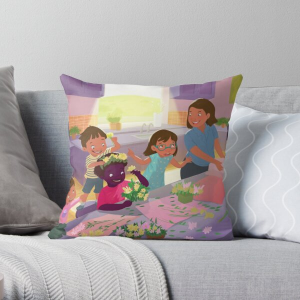 Flowers crowns  Throw Pillow