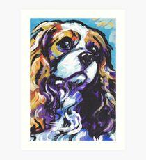 cavalier king charles spaniel Dog Bright colorful pop dog art Art Print