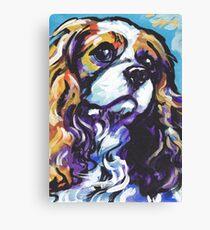 cavalier king charles spaniel Dog Bright colorful pop dog art Canvas Print