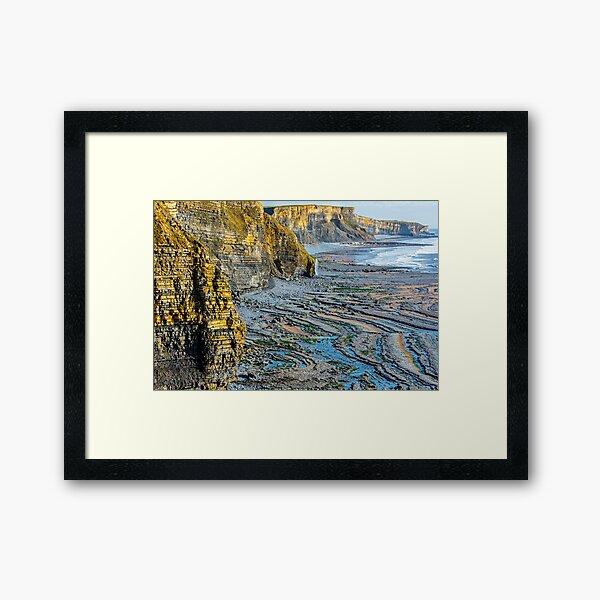 The Cliffs of Glamorgan Framed Art Print