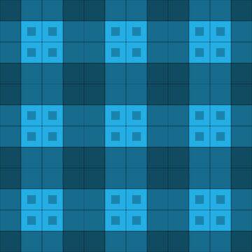 Geometric Pattern: Button Weave: Dark/Blue by redwolfoz