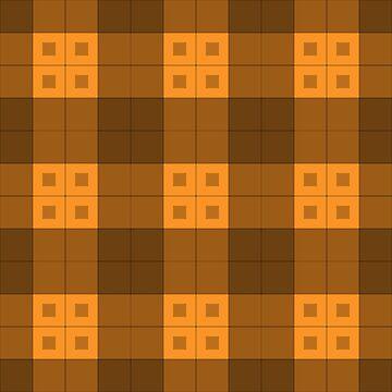 Geometric Pattern: Button Weave: Dark/Orange by redwolfoz