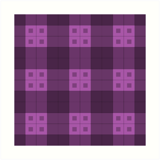Geometric Pattern: Button Weave: Dark/Purple by * Red Wolf