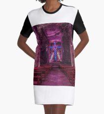 Zipaquira Salt Mine Cathedral Graphic T-Shirt Dress