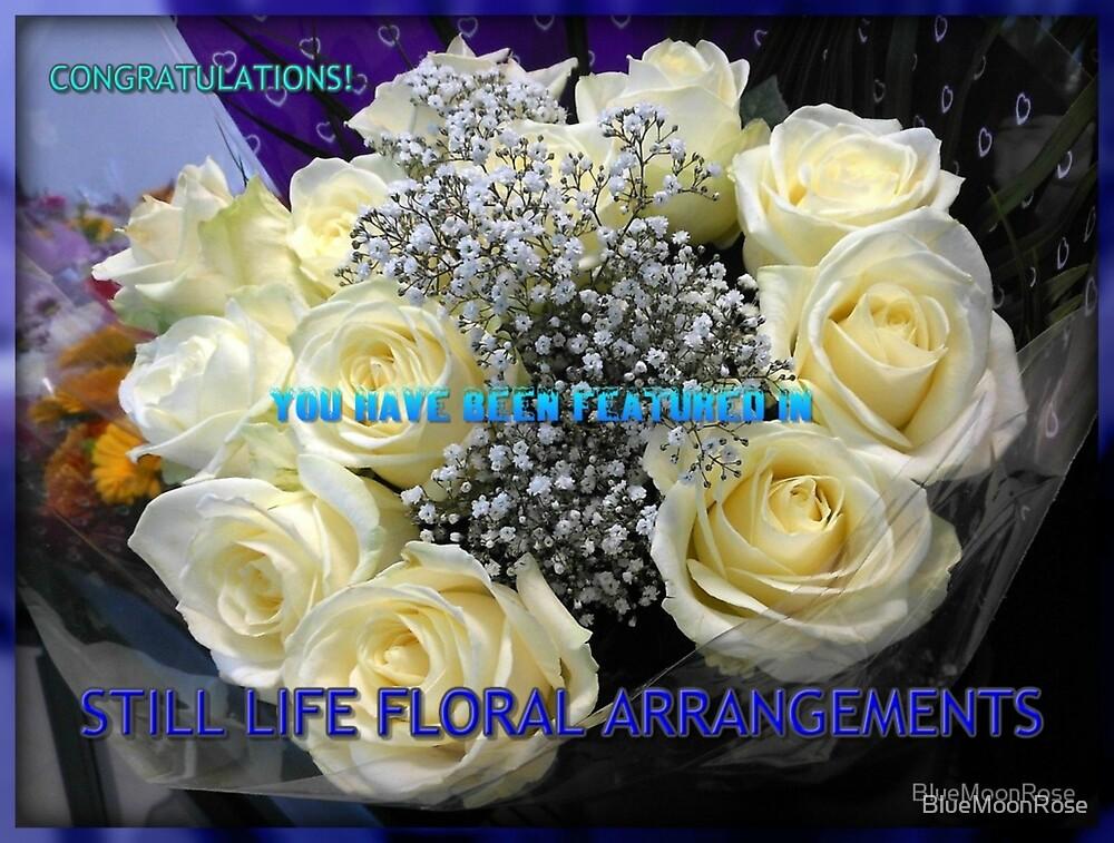 Stillleben-Blumenarrangements kennzeichnen Fahne von BlueMoonRose