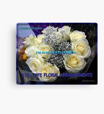 Stillleben-Blumenarrangements kennzeichnen Fahne Leinwanddruck