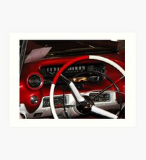 Cadillac dashboard from the 50' Art Print
