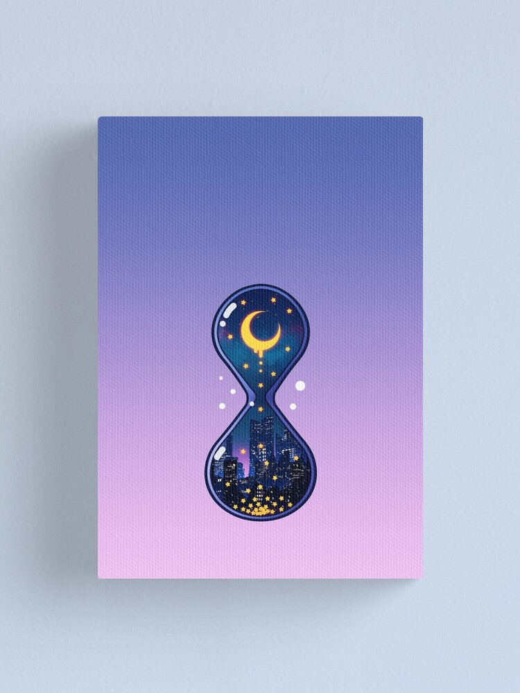 Alternate view of Moon Hourglass Canvas Print