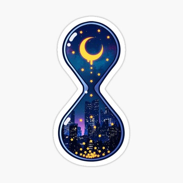 Moon Hourglass Sticker