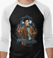 11th Doctor - Eleventh Heaven Men's Baseball ¾ T-Shirt