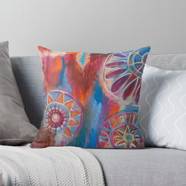 Abstract Mandalas Throw Pillow