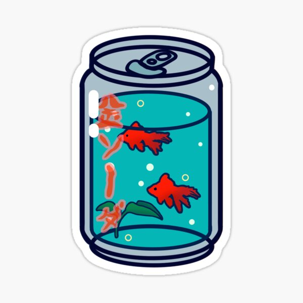 Goldfish Soda Sticker