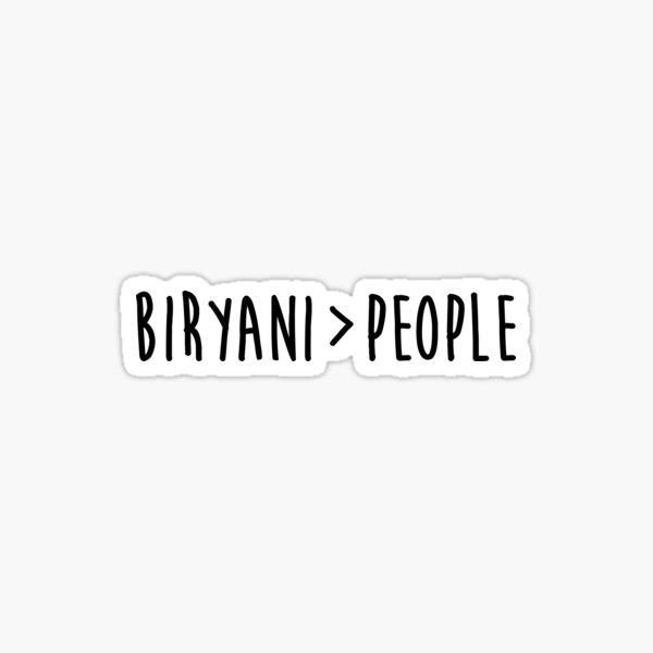 Biryani Lovers Sticker