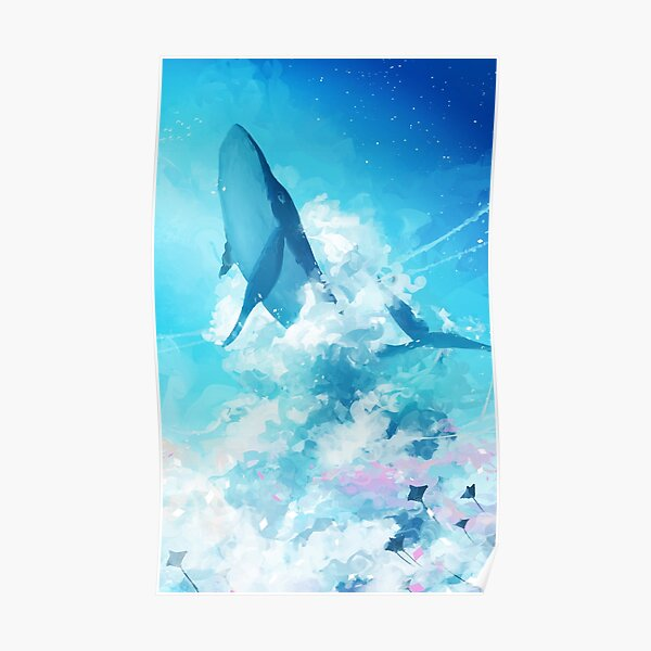 Sky Whale Poster