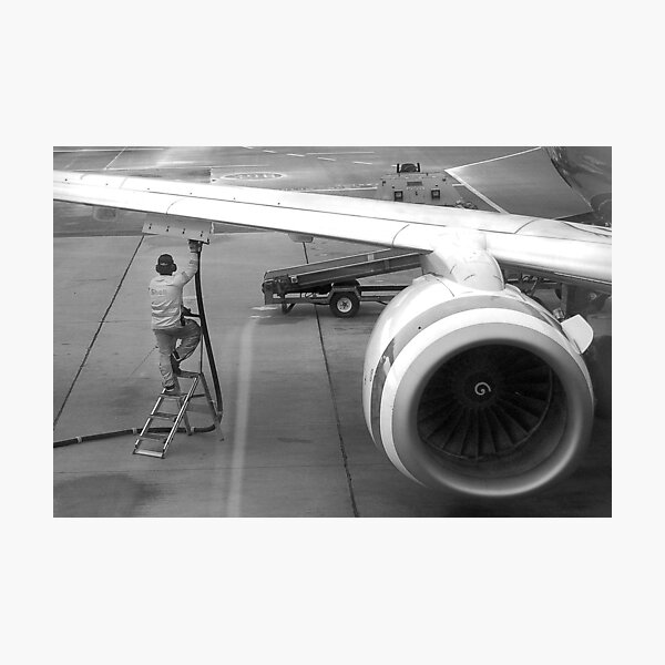 Refueling At Sydney Airport Photographic Print