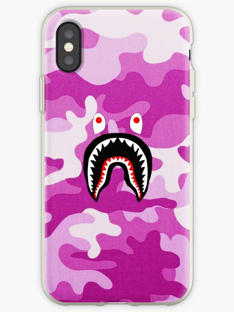 new style c35c6 18e7c 'Pink Bape Shark' iPhone Case by MikeHayese