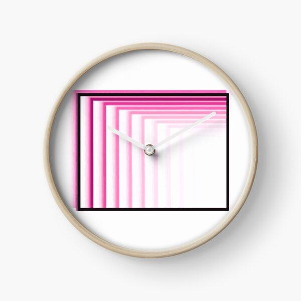 Enter the Basement (Neon Pink Logo) Clock