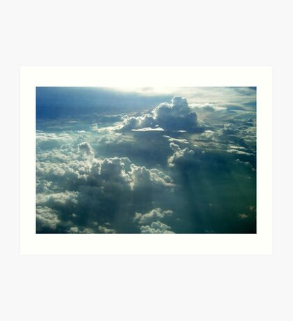 Sunrays over the Clouds Art Print