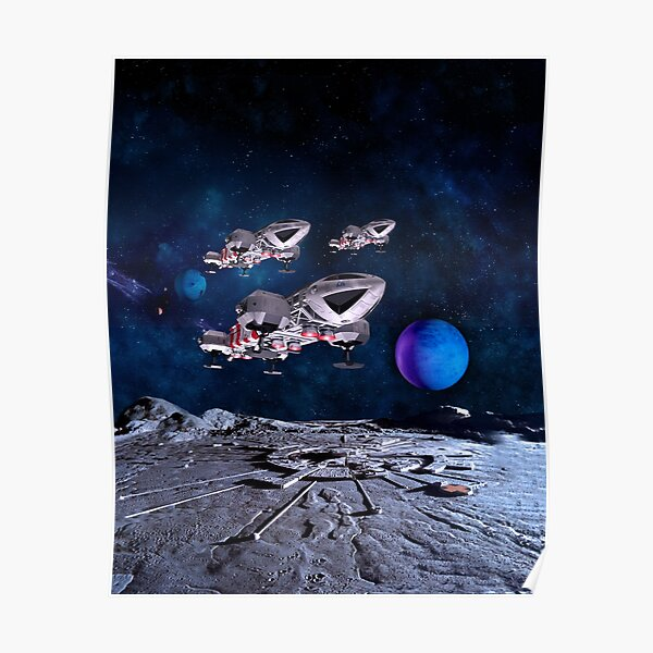 THREE RESCUE R2 EAGLE OVER ALPHA WITH PLANET NO LOGO 20190131A Poster