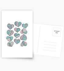 Hearts striped Postcards
