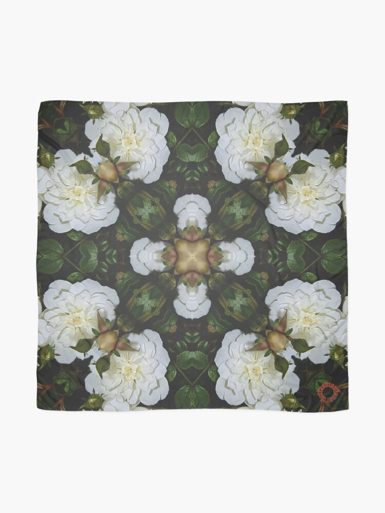Alternate view of D1G1TAL-M00DZ ~ FLORAL ~ Flower of Light 2 by tasmanianartist 010219 Scarf