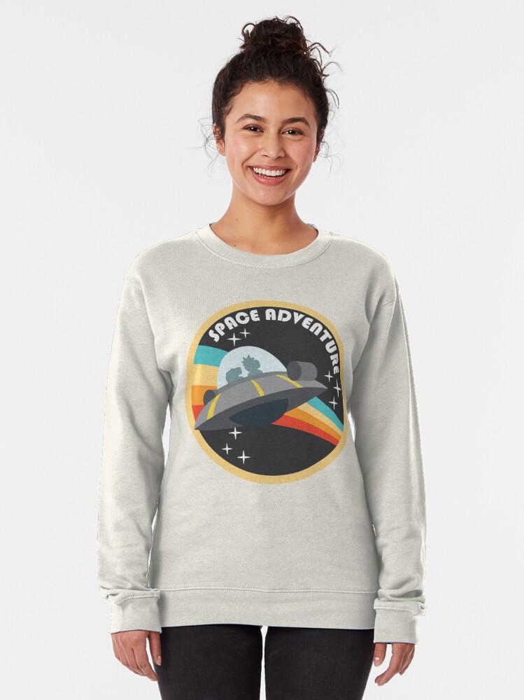 Alternate view of Space Adventure (Rick & Morty) Pullover Sweatshirt