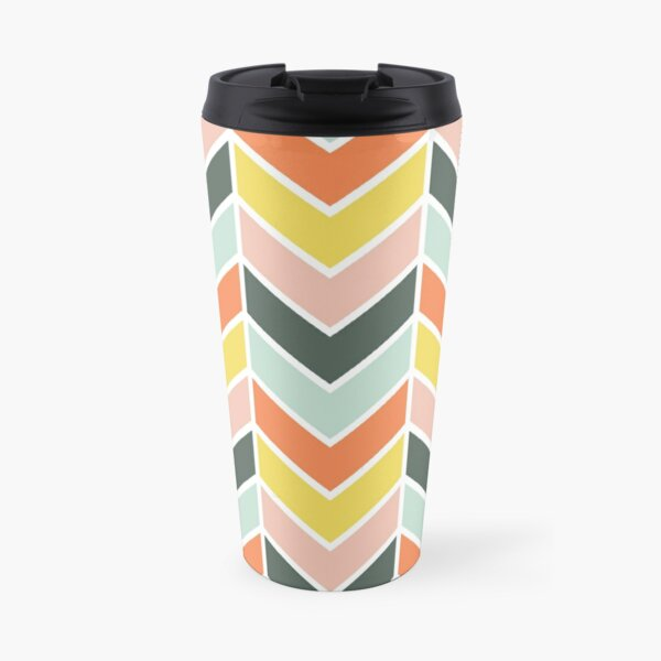 Cheerful Chevron Travel Mug