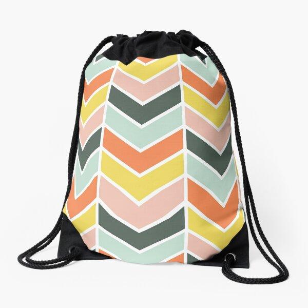 Cheerful Chevron Drawstring Bag