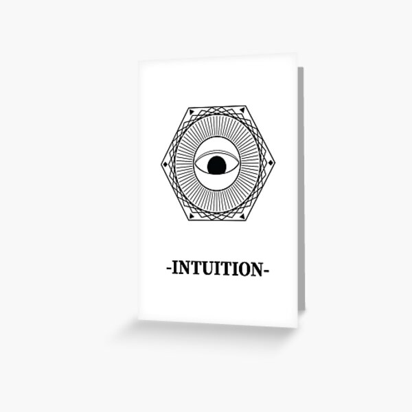 Intuition Card Greeting Card