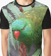 Parrot on fern Graphic T-Shirt