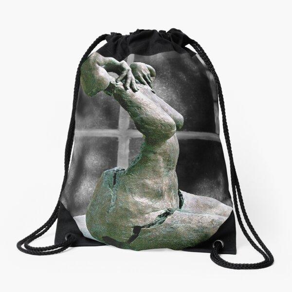 Incomplete Woman Drawstring Bag