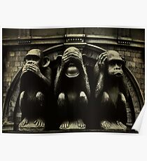 Three Wise Monkeys Poster