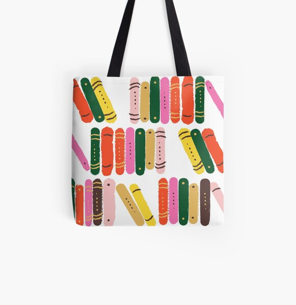 Bookworm All Over Print Tote Bag