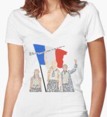 Les Miserables Women's Fitted V-Neck T-Shirt