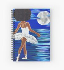 """Walking on Water"" Black Ballerina Art Print black art black girl magic Afro centric African American Art  Spiral Notebook"