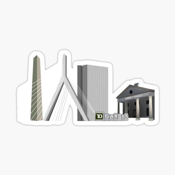 Boston Landscape Sticker