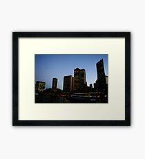 Circular Quay, Dusk. Framed Print