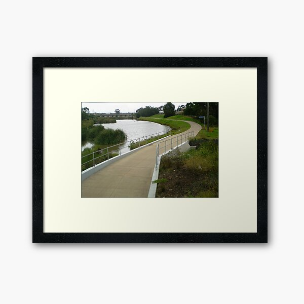 Let's take a 10K walk around Skeleton Creek Framed Art Print