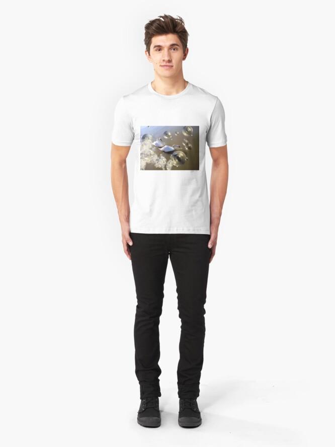 Alternate view of Swan bubbles Slim Fit T-Shirt