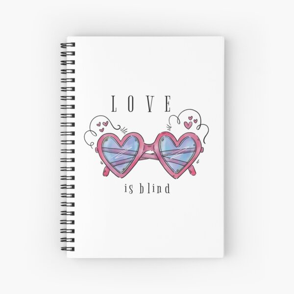 Valentine's Day - Love is Blind Spiral Notebook