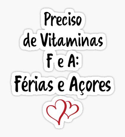 Férias e Açores Sticker