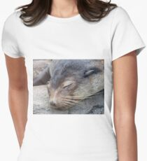 Sleeping Seal Women's Fitted T-Shirt