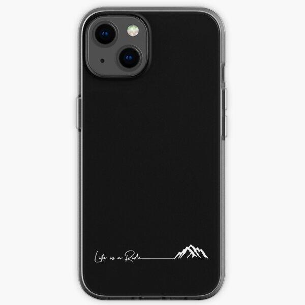 montagne en plein air cyclisme snowboard ski La vie est une balade Coque souple iPhone