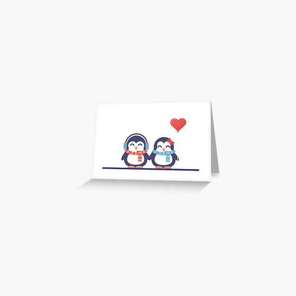 Valentine's Day - Penguin in love Greeting Card