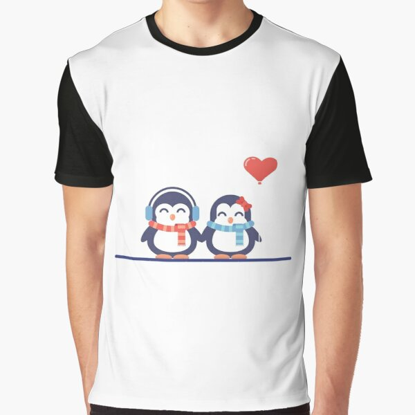 Valentine's Day - Penguin in love Graphic T-Shirt
